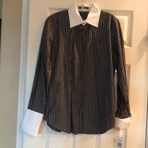Classic black & white stripe shirt, Ralph Lauren